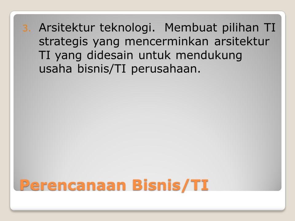 Perencanaan Bisnis/TI 3.Arsitektur teknologi.