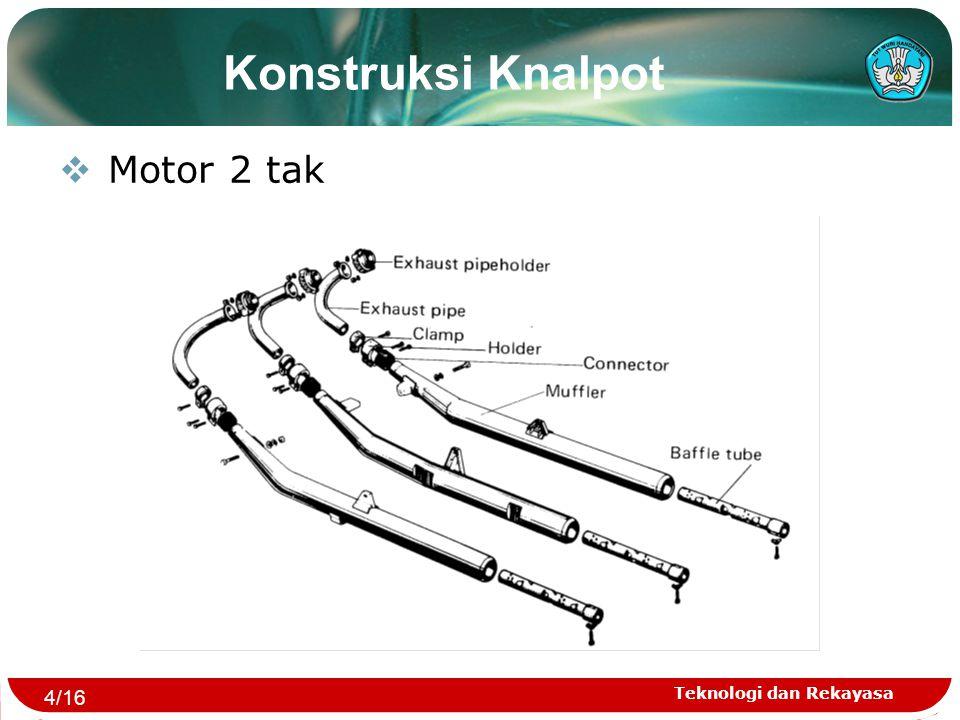 Teknologi dan Rekayasa Konstruksi Knalpot  Motor 2 tak 4/16