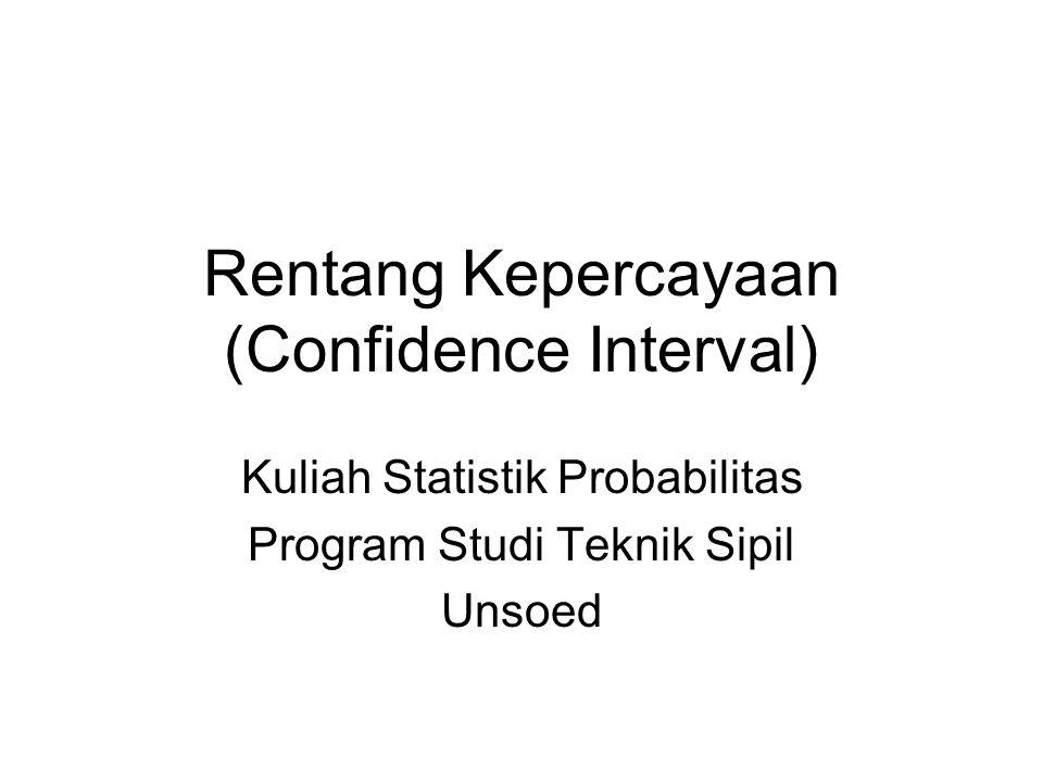 Rentang Kepercayaan (Confidence Interval) Kuliah Statistik Probabilitas Program Studi Teknik Sipil Unsoed