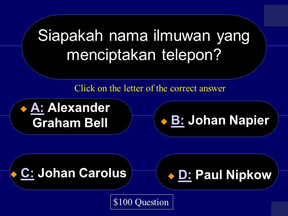Siapakah nama ilmuwan yang menciptakan telepon.
