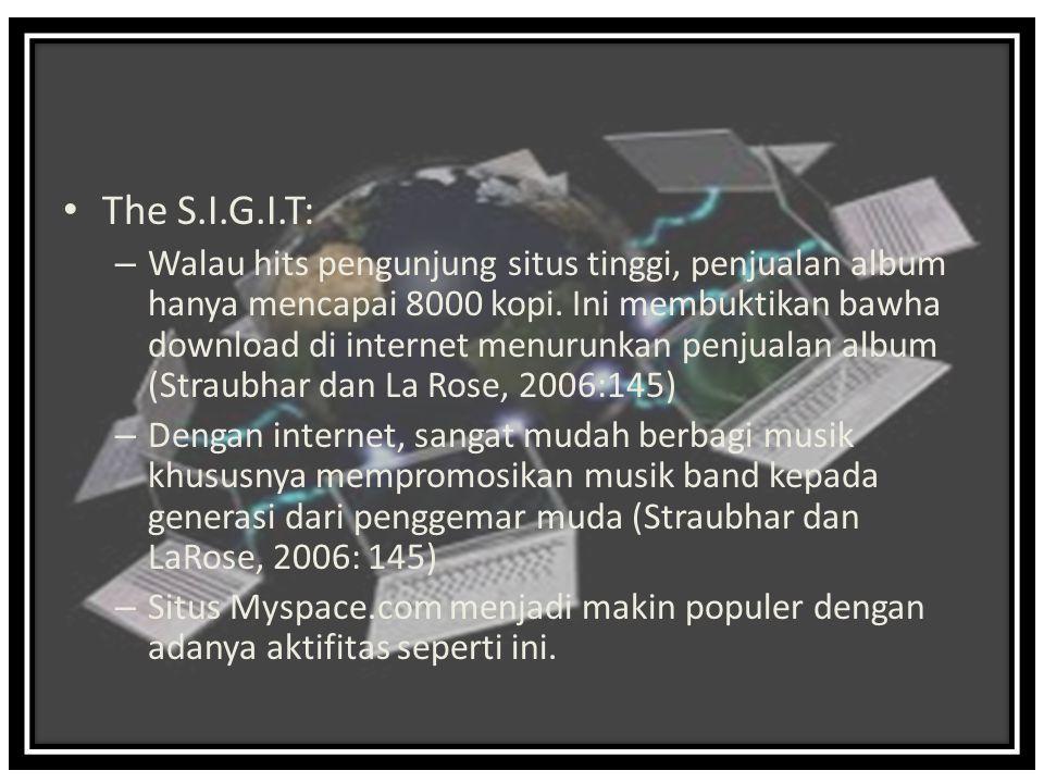 The S.I.G.I.T: – Walau hits pengunjung situs tinggi, penjualan album hanya mencapai 8000 kopi.