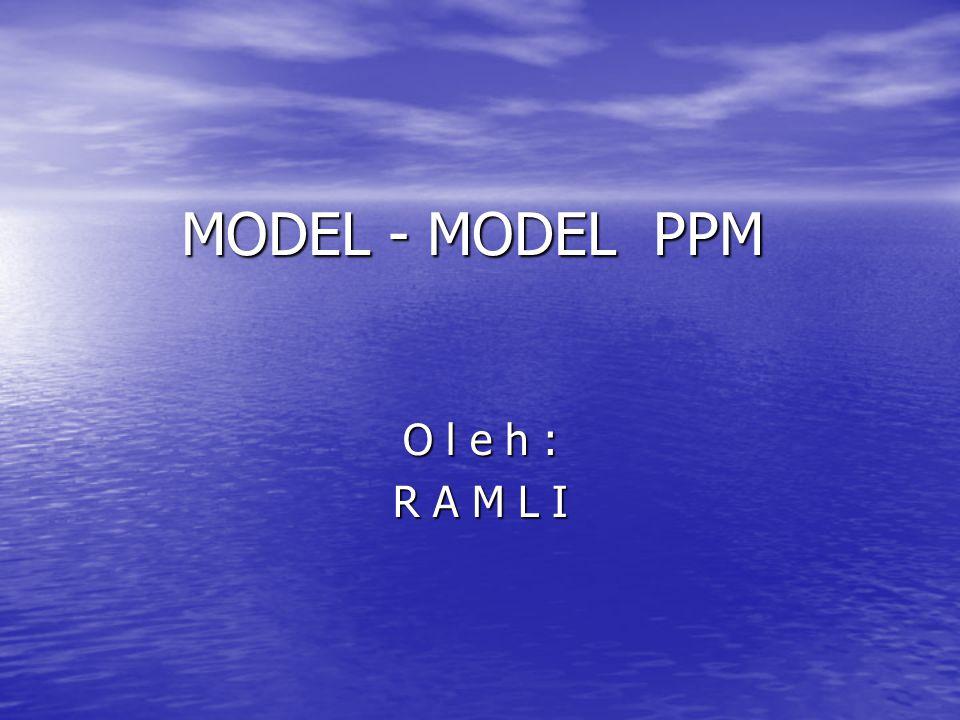 MODEL - MODEL PPM O l e h : R A M L I