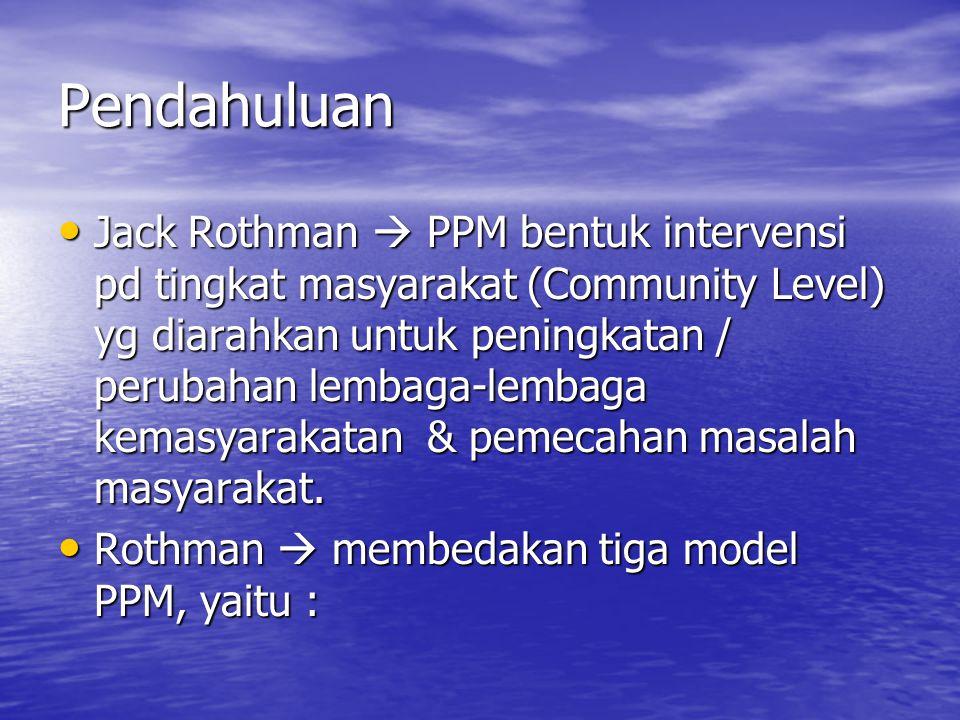 1.Model A (Locality Development) 2. Model B (Social Planning) 3.