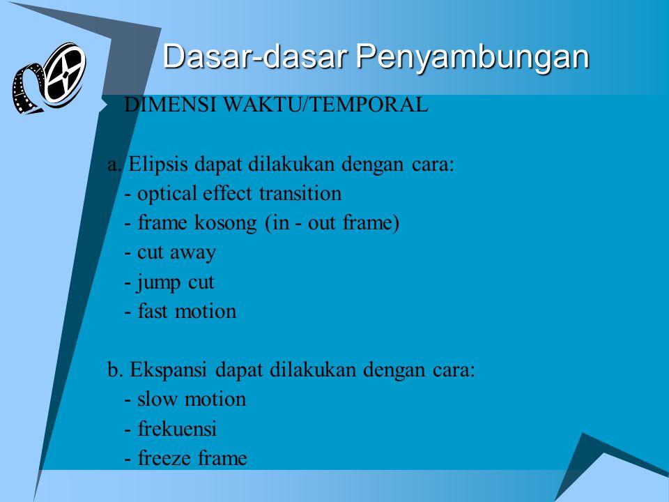 Dasar-dasar Penyambungan  DIMENSI WAKTU/TEMPORAL a.