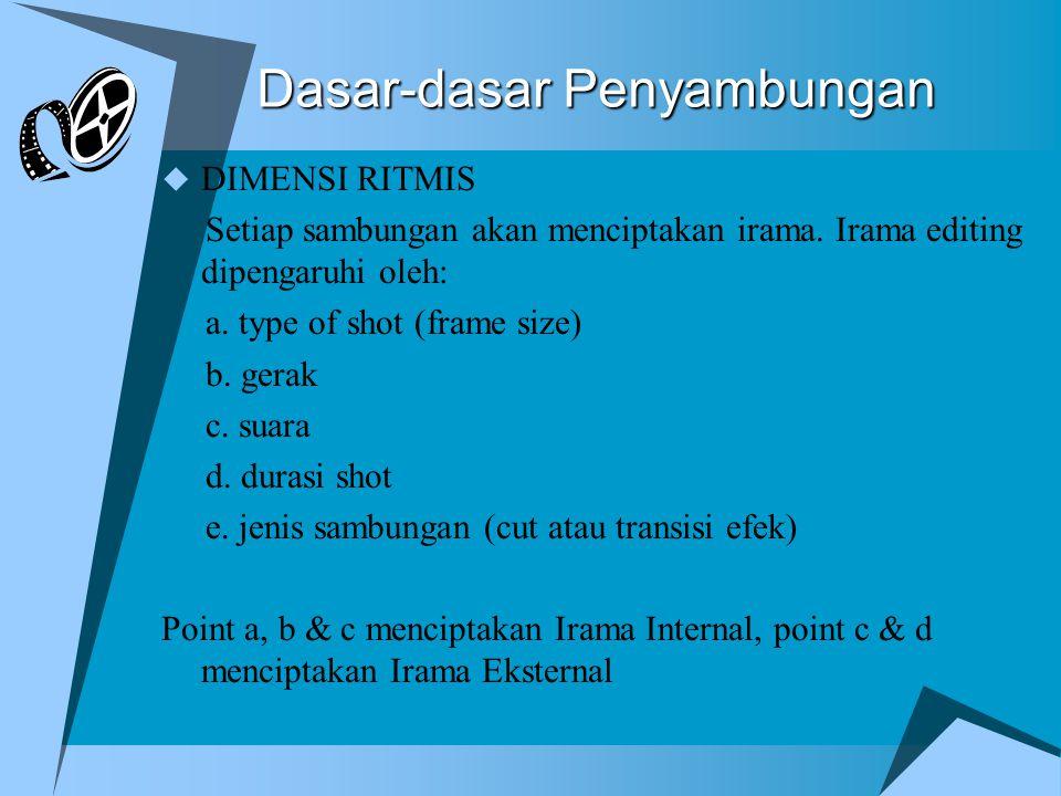 Dasar-dasar Penyambungan  DIMENSI RITMIS Setiap sambungan akan menciptakan irama.