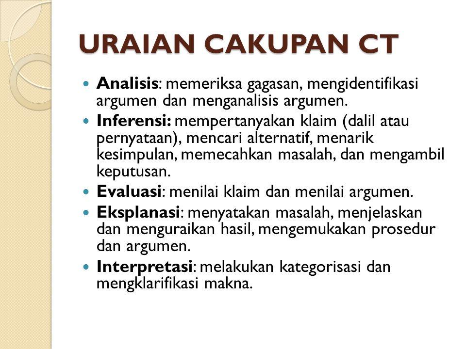 APA KARAKTERISTIK CT.