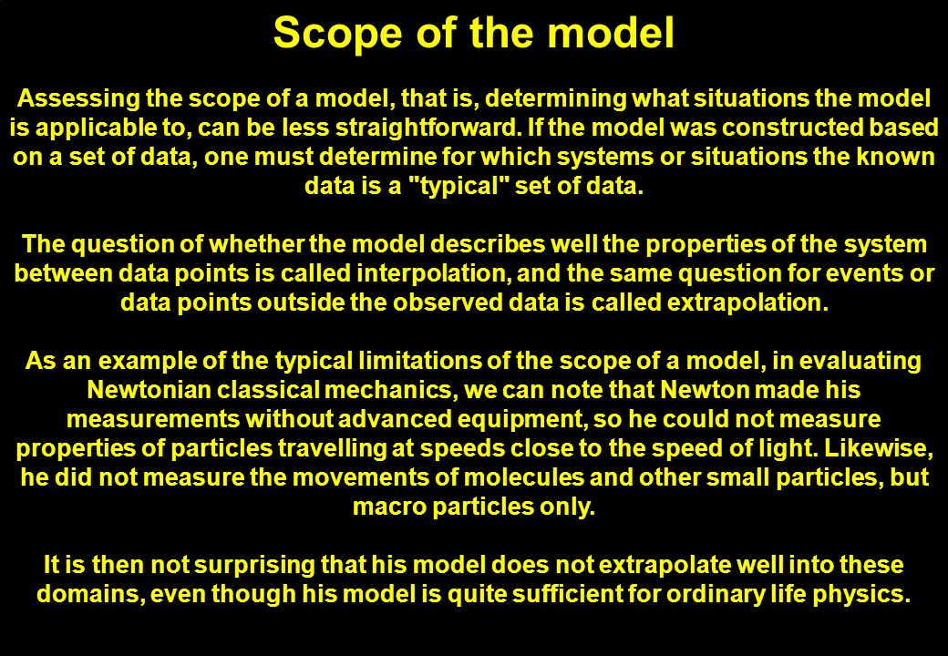 Fit to empirical data Usually the easiest part of model evaluation is checking whether a model fits experimental measurements or other empirical data.