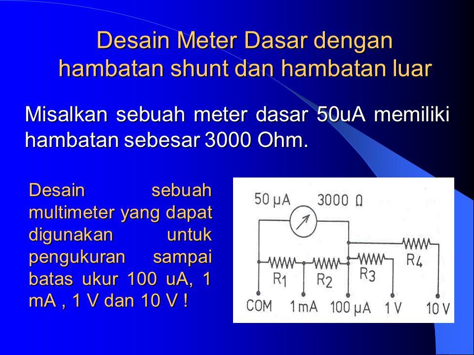 Ammeter dengan beberapa batas ukur