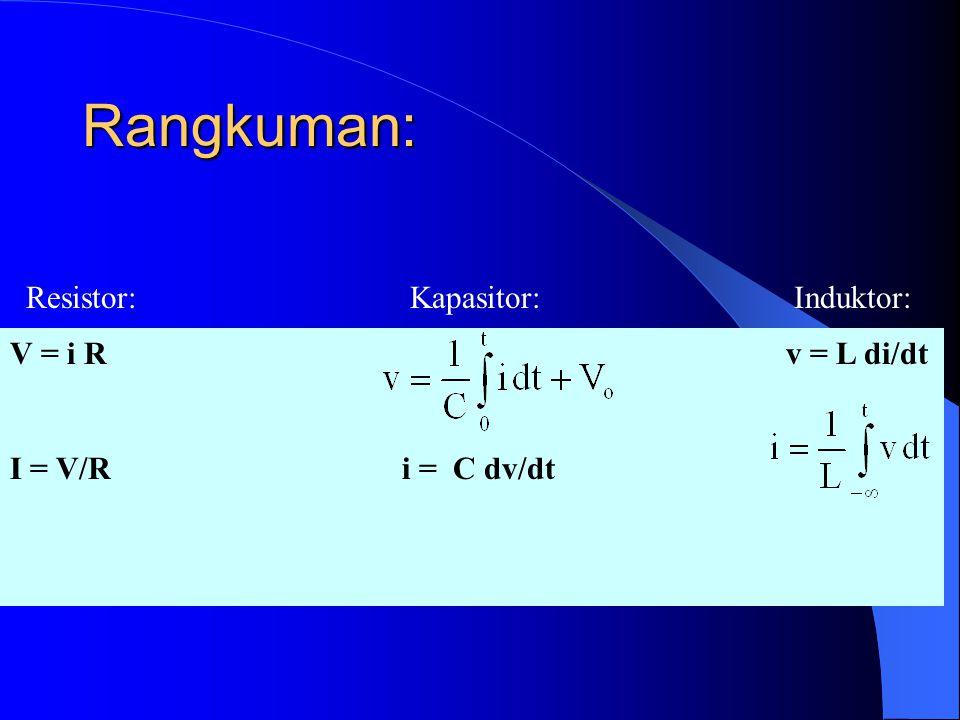 INDUKTOR v = L di/dt L = induktansi diri
