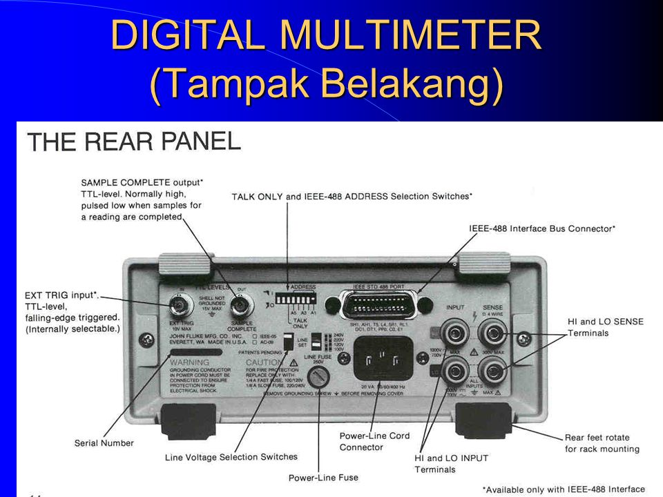 DIGITAL MULTIMETER (tampak Depan)