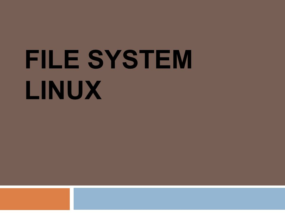 FILE SYSTEM LINUX