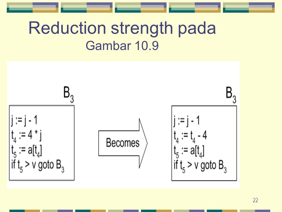 22 Reduction strength pada Gambar 10.9