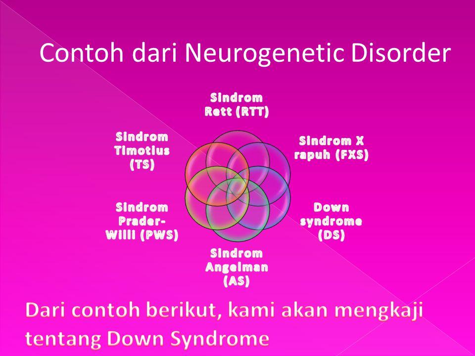 Contoh dari Neurogenetic Disorder