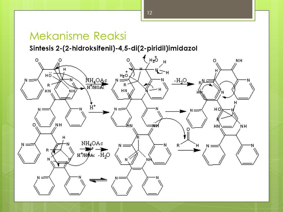 Mekanisme Reaksi Sintesis 2-(2-hidroksifenil)-4,5-di(2-piridil)imidazol 12