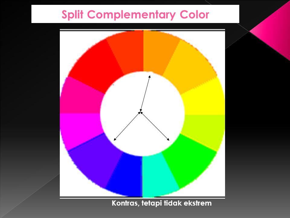 Split Complementary Color Kontras, tetapi tidak ekstrem