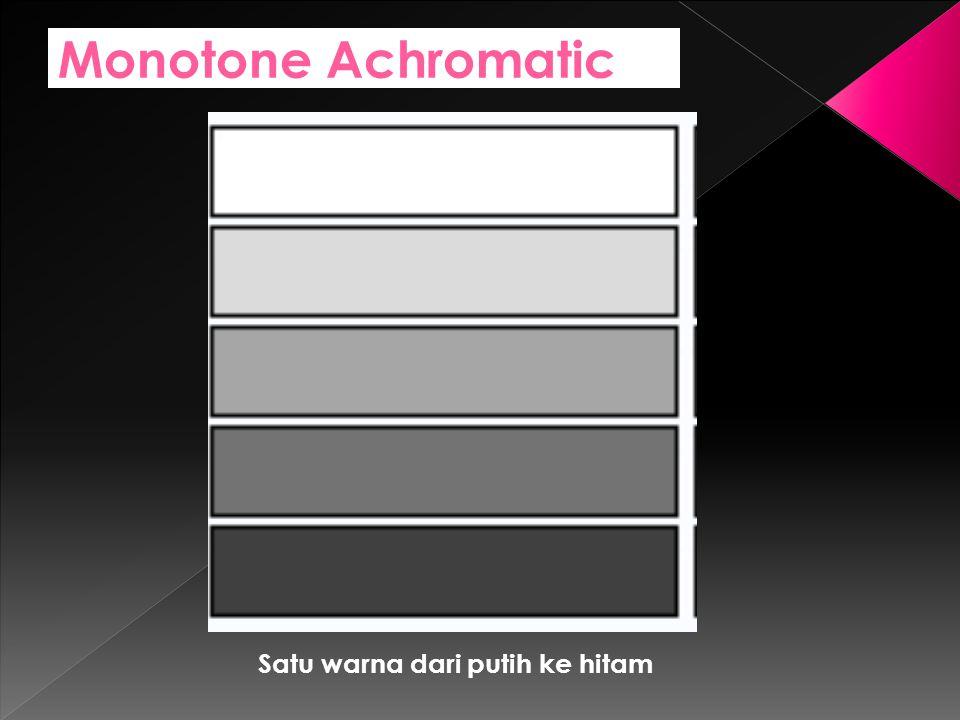 Monotone Achromatic Satu warna dari putih ke hitam
