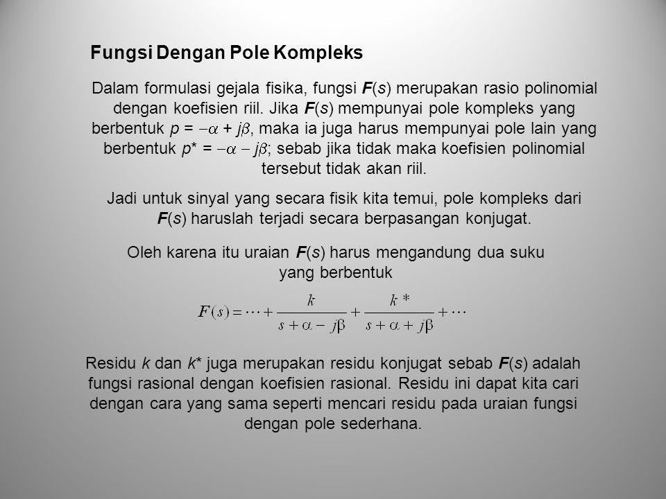 Dalam formulasi gejala fisika, fungsi F(s) merupakan rasio polinomial dengan koefisien riil. Jika F(s) mempunyai pole kompleks yang berbentuk p =  +