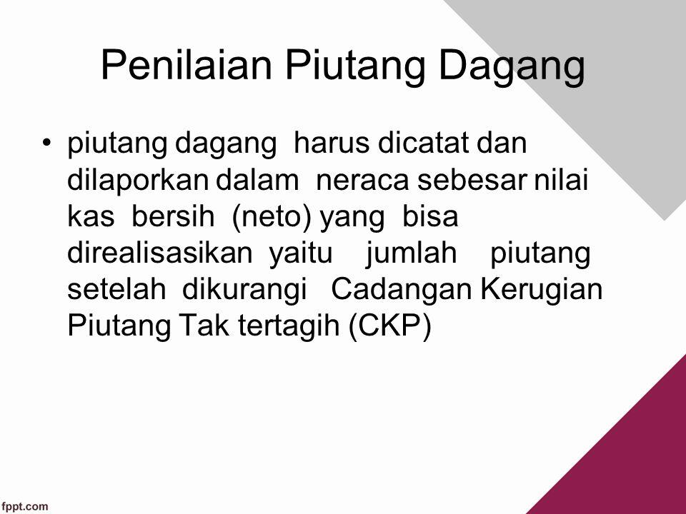 Pengendalian Internal Bagaimana cara melakukan pengendalian internal atas piutang? Pemisahan Fungsi Pemisahan Fungsi Persetujuan Penghapusan Piutang P