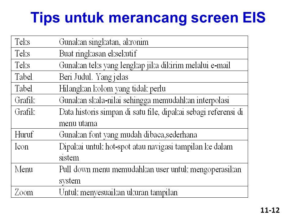 Tips untuk merancang screen EIS 11-12