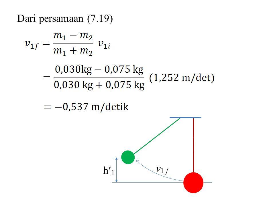 Dari persamaan (7.19) h1h1 v 1 f