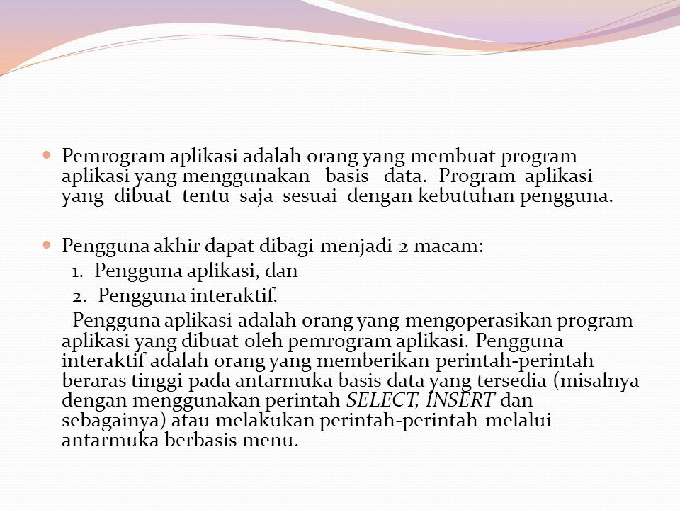 Membuka basis data AKADEMIK OPEN DATABASE AKADEMIKMenambah satu baris data ke tabel MAHASISWA INSERT INTO MAHASISWA; ALUES ('3085113023', 'MIKAIL ACHMAD', (03/03/1987),'TI')