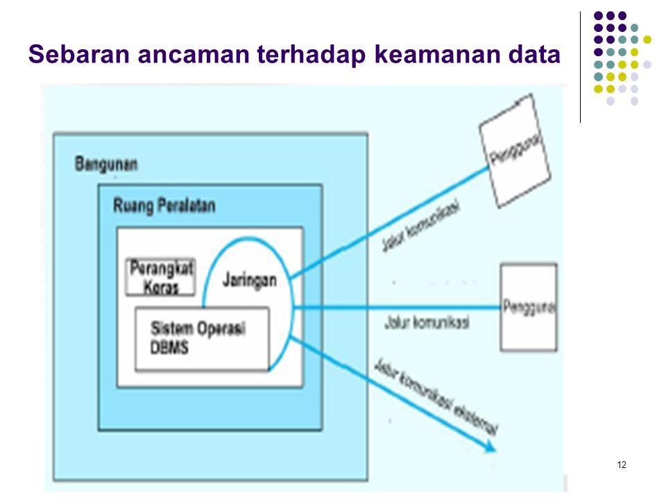 Sebaran ancaman terhadap keamanan data 12