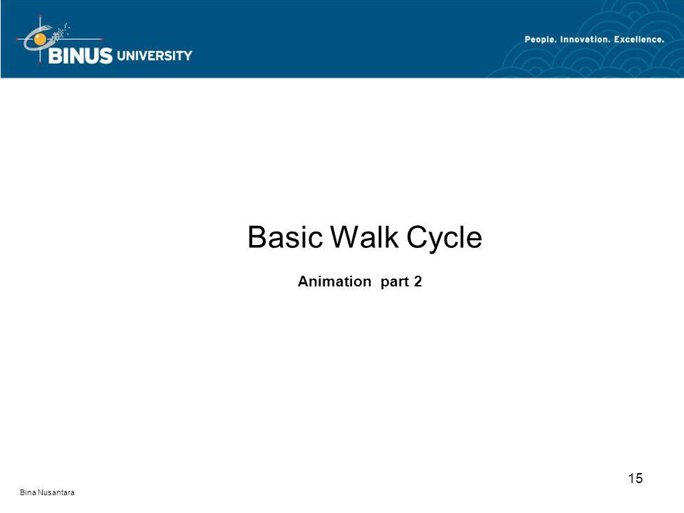 Bina Nusantara 15 Basic Walk Cycle Animation part 2