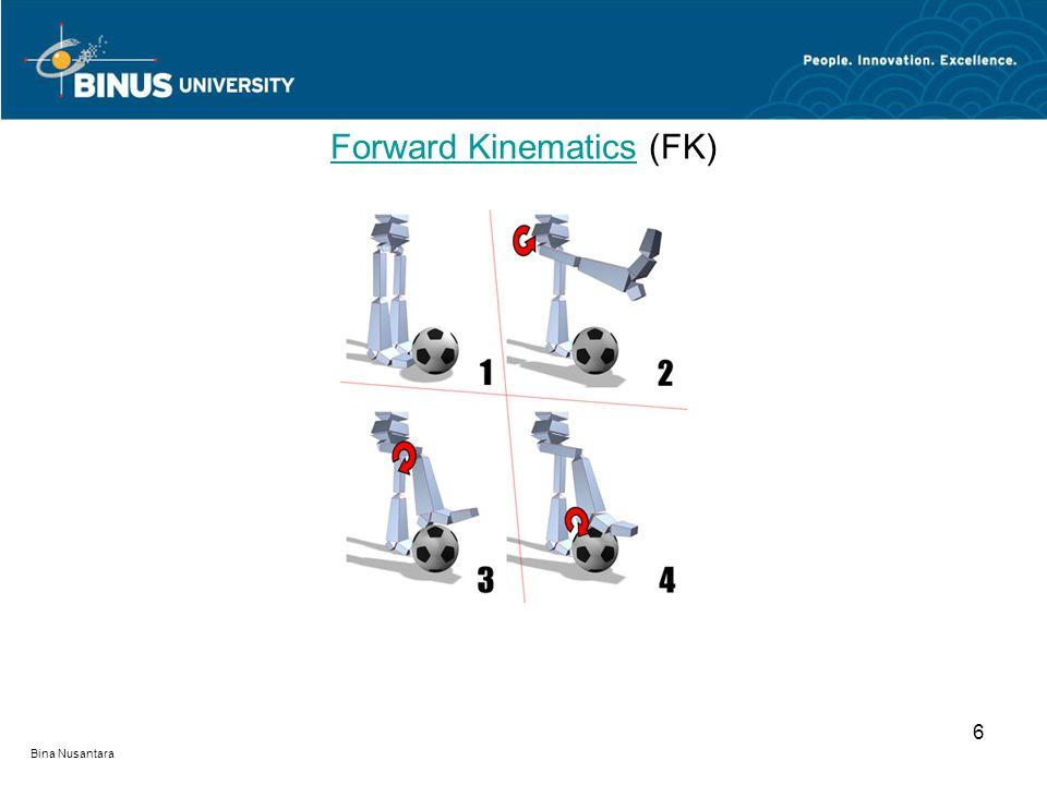 Bina Nusantara Forward KinematicsForward Kinematics (FK) 6