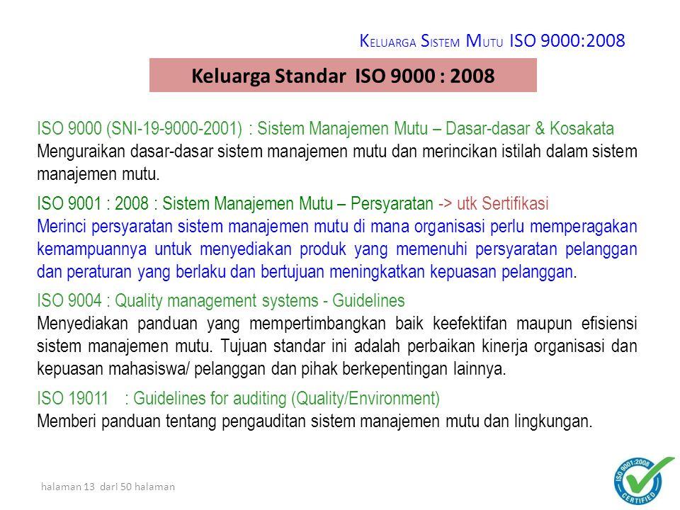 halaman 12 dari 50 halaman ISO 9000 Standards-Worldwide AustraliaGermanySpain AustriaHungarySweden BelgiumIndiaSwitzerland CanadaIrelandTunisia ChinaItalyUK DenmarkMalaysiaUSA FinlandNetherlandsUSSR FranceSouth AfricaYugoslavia New ZealandIndonesiaetc.