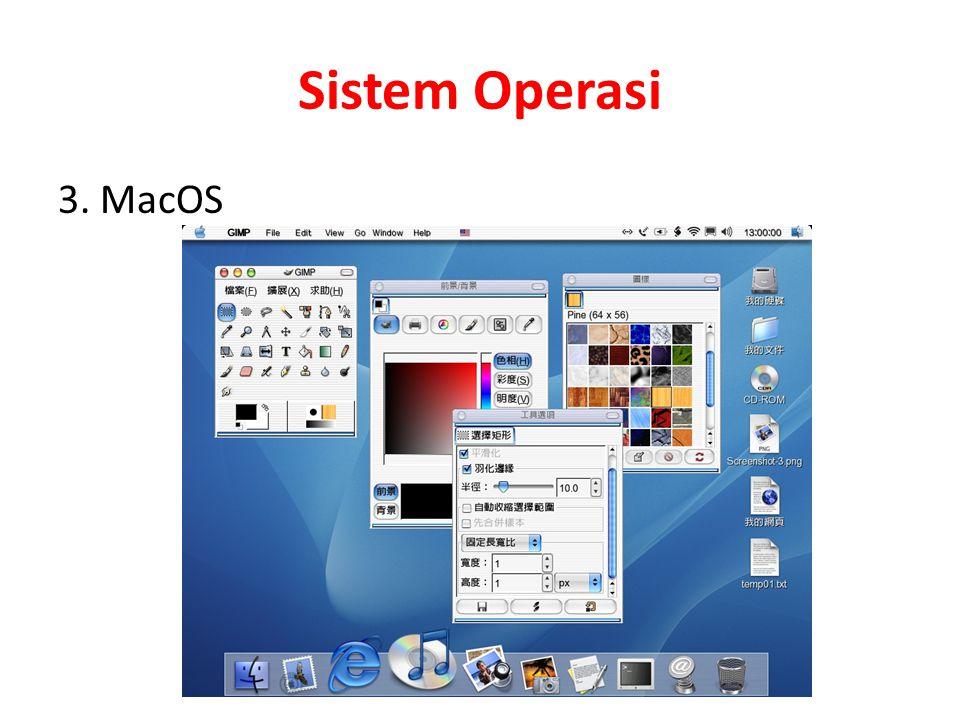 Sistem Operasi 3. MacOS