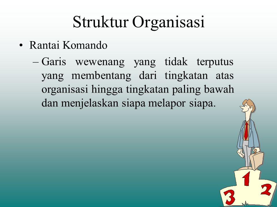 Pengorganisasian merupakan proses penyesuaian struktur organisasi dengan tujuan, sumber daya dan lingkungannya. Struktur organisasi, susunan dan hubun