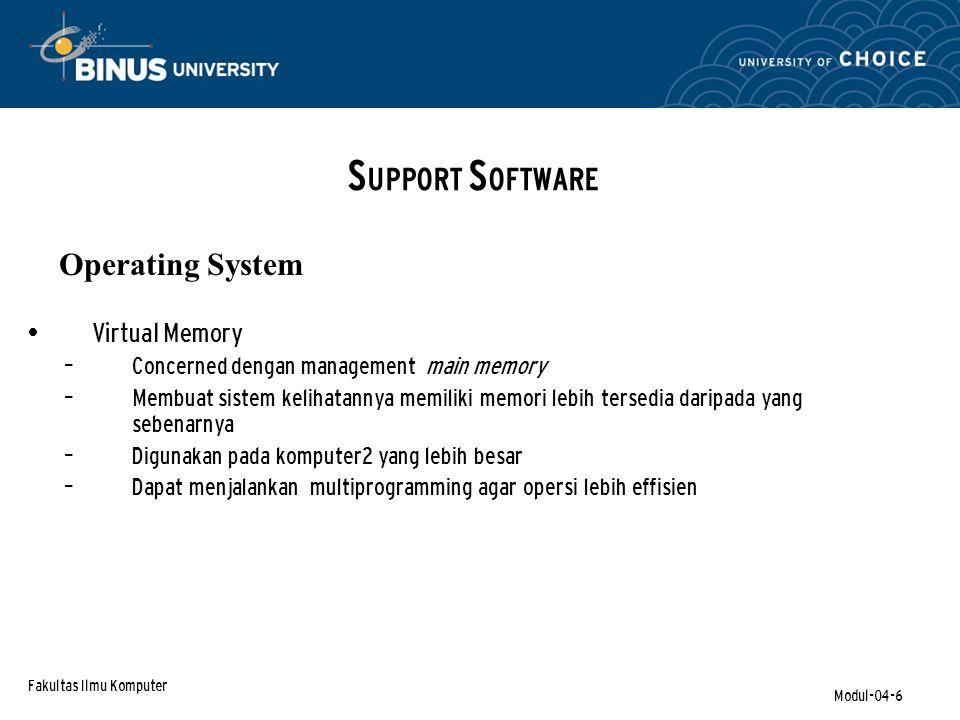 Fakultas Ilmu Komputer Modul-04-27 Visual Basic Program