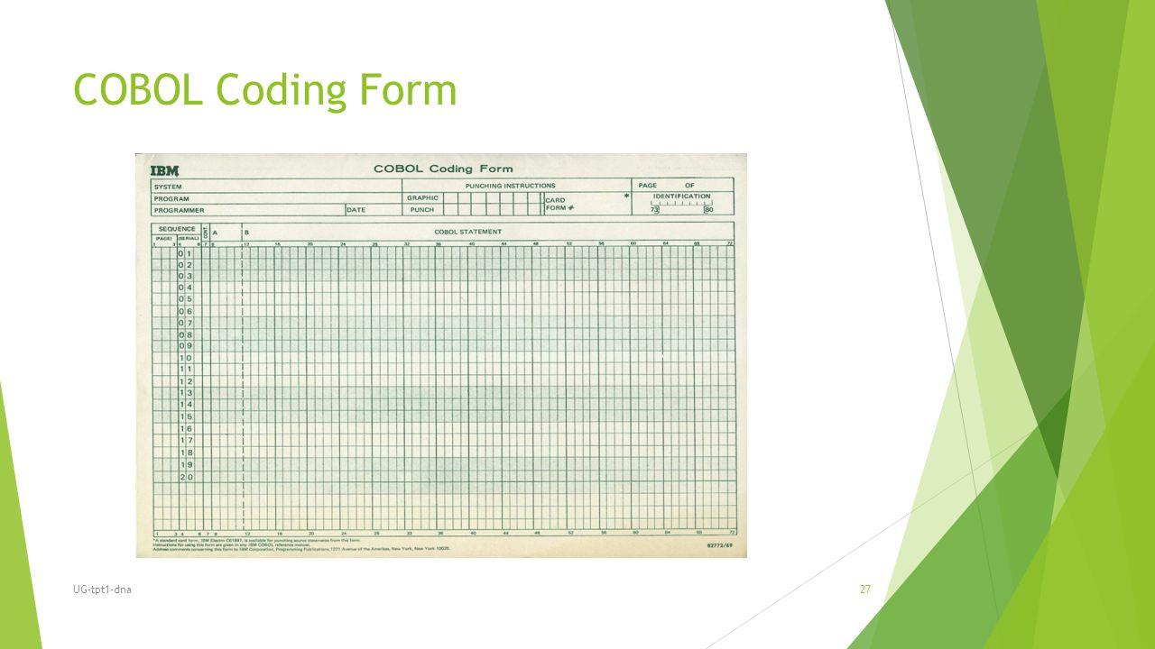 COBOL Coding Form UG-tpt1-dna27