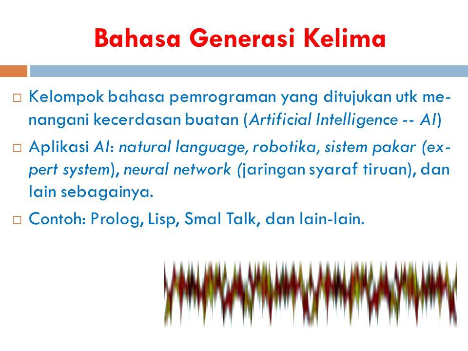 Karakteristik Berbagai Bahasa Pemrograman