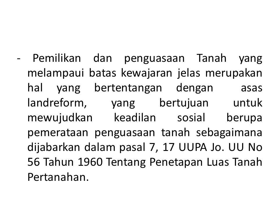 Soekarno mengatakan: Landreform merupakan bagian yang tidak terpisahkan dari Revolusi Indonesia … Banyak tanah yang bisa diolah yang diterlantarkan para tuan tanah bisa diubah menjadi tanah-tanah yang produktif.