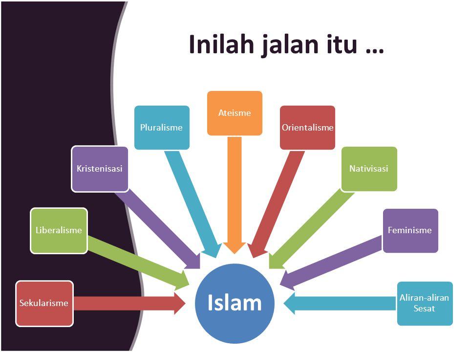 Inilah jalan itu … Islam SekularismeLiberalismeKristenisasiPluralismeAteismeOrientalismeNativisasiFeminisme Aliran-aliran Sesat