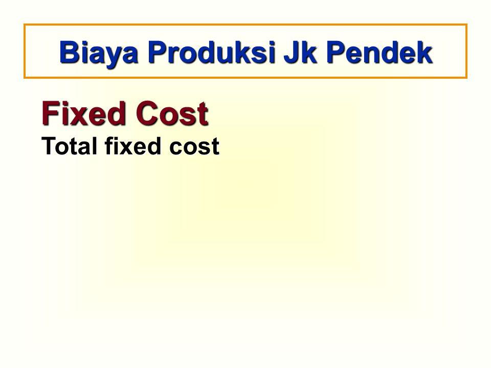Fixed Cost Total fixed cost Biaya Produksi Jk Pendek