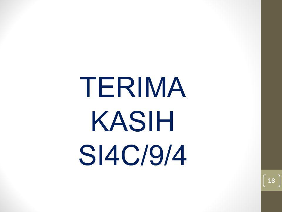 18 TERIMA KASIH SI4C/9/4