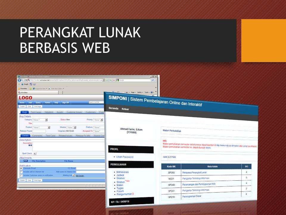 PERANGKAT LUNAK BERBASIS WEB
