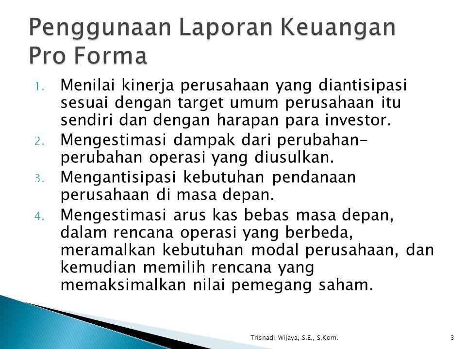 1. Menilai kinerja perusahaan yang diantisipasi sesuai dengan target umum perusahaan itu sendiri dan dengan harapan para investor. 2. Mengestimasi dam