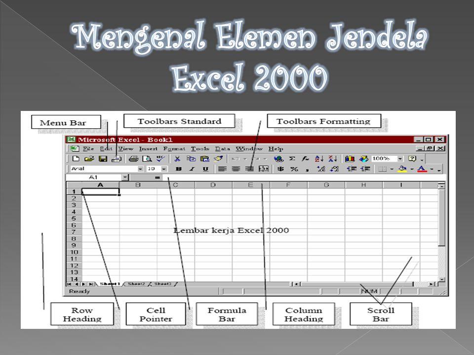 Menu ini dapat dipilih dengan Mouse atau menggunakan tombol kombinasi ALT+huruf menu yang bergaris bawah secara bersamaan.