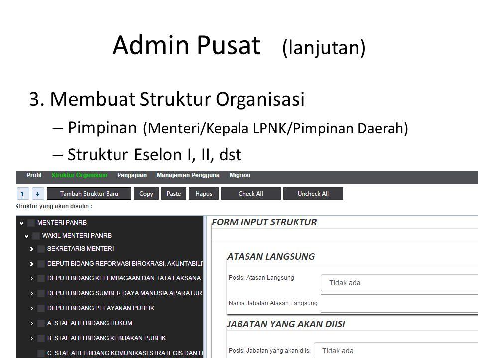 Langkah dalam input data Siapkan Struktur Organisasi Konversikan dalam format Spreadsheet Pindahkan dalam aplikasi Tambahkan data untuk jabatan fungsional ABK, data riil dan usulan formasi 14