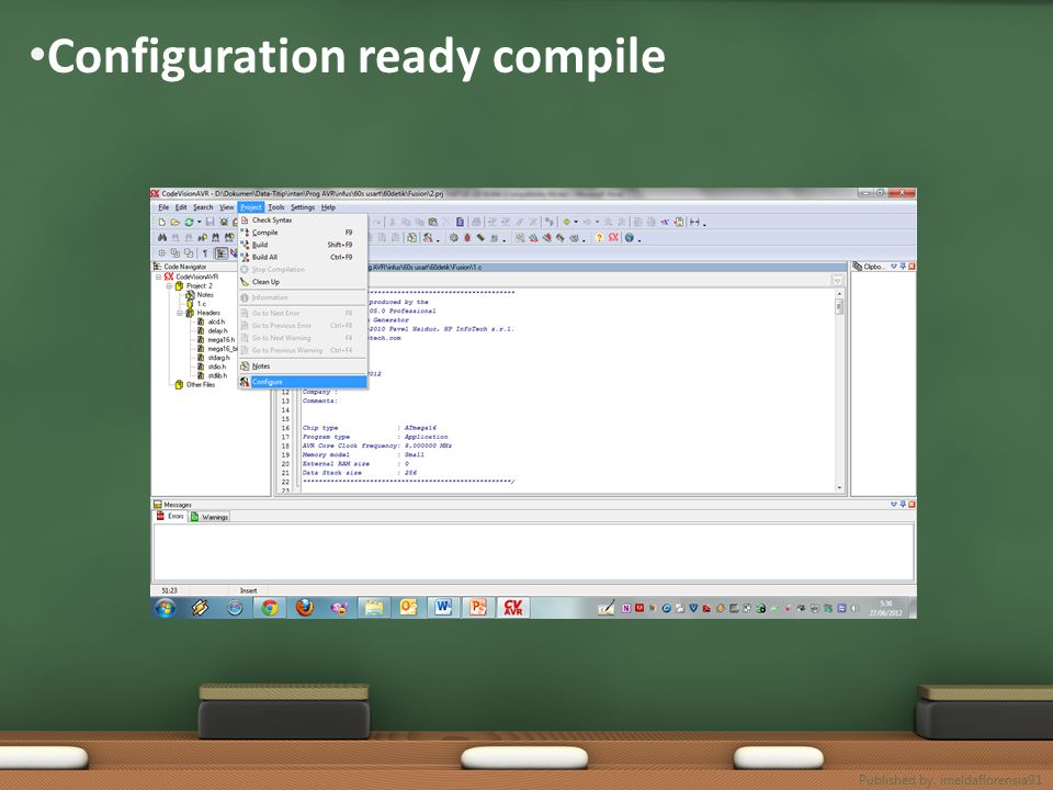 Configuration ready compile Published by. imeldaflorensia91