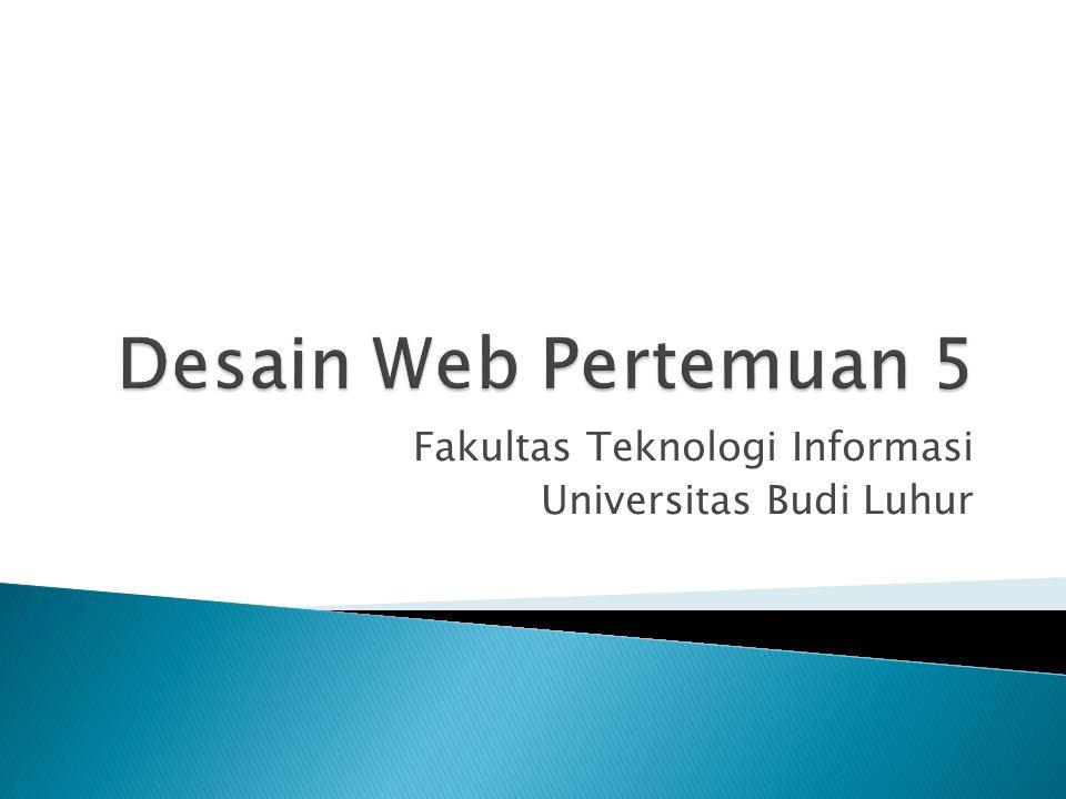 Fakultas Teknologi Informasi Universitas Budi Luhur