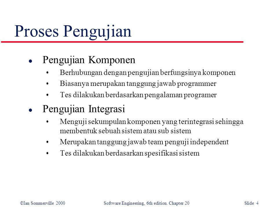 ©Ian Sommerville 2000 Software Engineering, 6th edition. Chapter 20 Slide 5 Testing phases