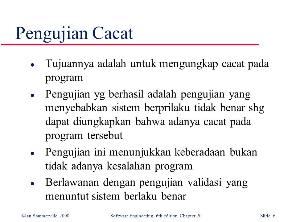 ©Ian Sommerville 2000 Software Engineering, 6th edition. Chapter 20 Slide 37 Bottom-up testing