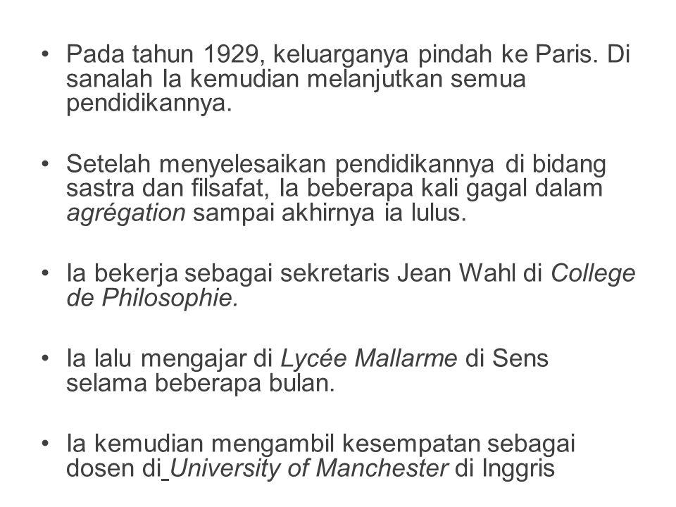Pada tahun 1929, keluarganya pindah ke Paris. Di sanalah Ia kemudian melanjutkan semua pendidikannya. Setelah menyelesaikan pendidikannya di bidang sa