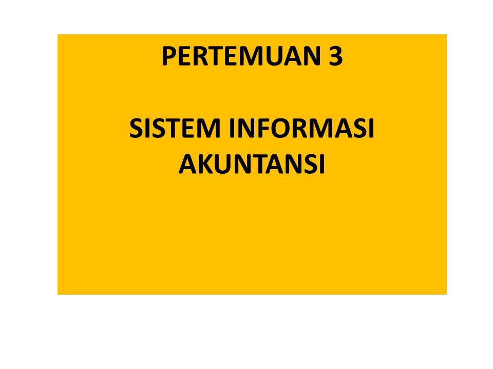PERTEMUAN 3 SISTEM INFORMASI AKUNTANSI