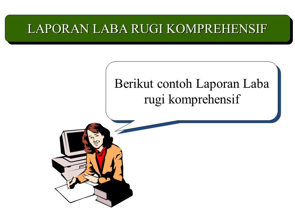 LAPORAN LABA RUGI KOMPREHENSIF Berikut contoh Laporan Laba rugi komprehensif