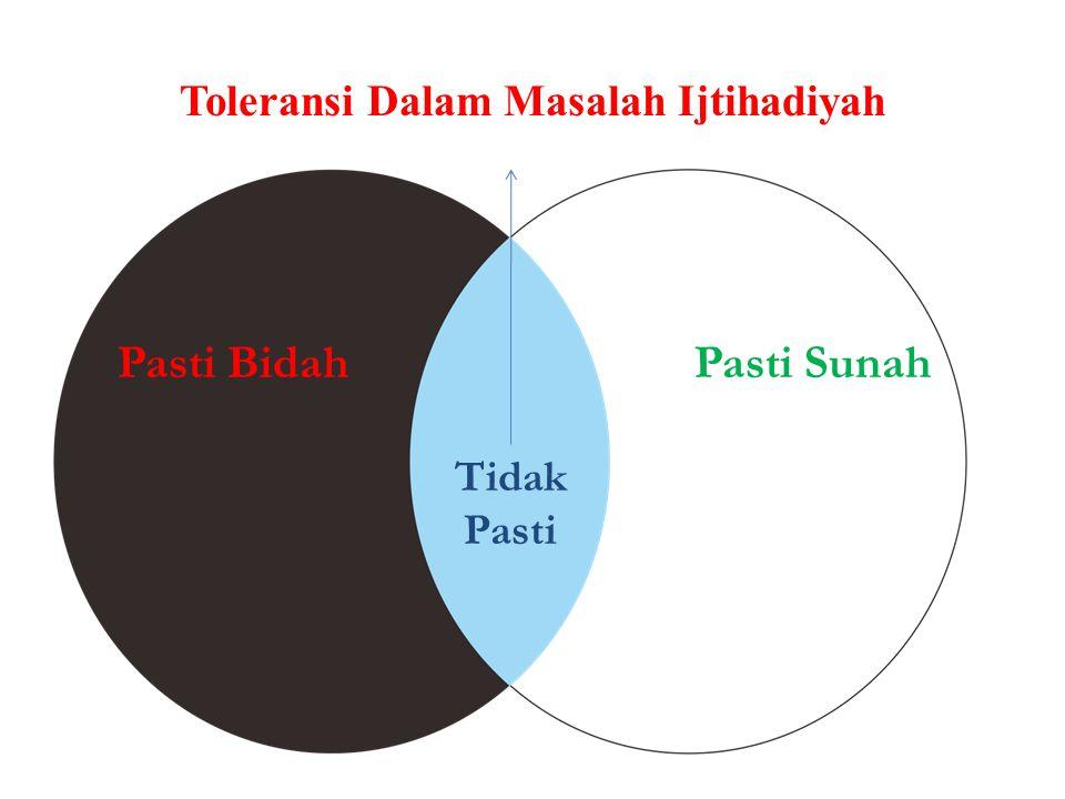 Toleransi Dalam Masalah Ijtihadiyah Pasti BidahPasti Sunah Tidak Pasti